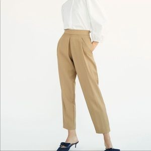 Massimo Dutti High Waist Pleated Trouser Pant 2
